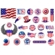 American Patriotic Badges - GraphicRiver Item for Sale