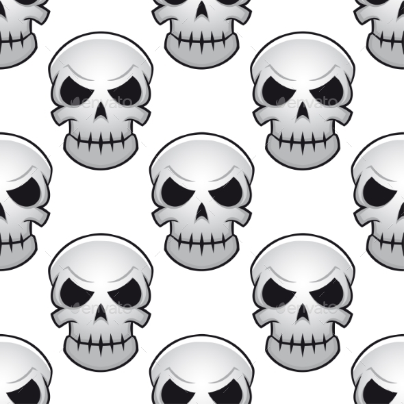 GraphicRiver Seamless Pattern of Skulls 9071333