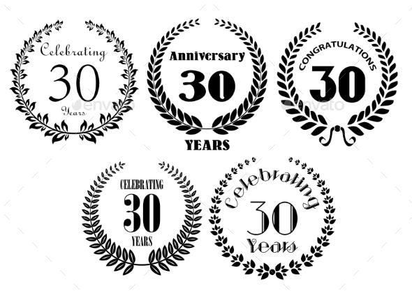 GraphicRiver Laurel Wreaths Heraldic Set 9071368