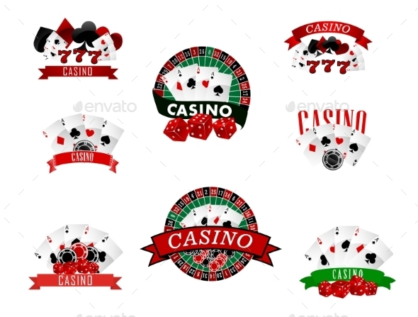 GraphicRiver Casino and Gambling Badges 9071390