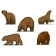 Brown Colored Bear Characters - GraphicRiver Item for Sale