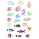 Colorful Cartoon Underwater Fishes - GraphicRiver Item for Sale