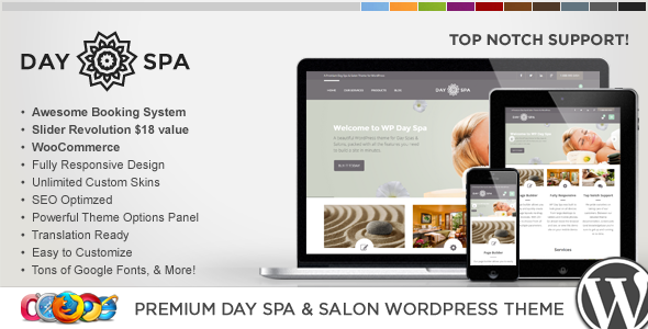 ThemeForest WP Day Spa & Salon WordPress Theme 9071935
