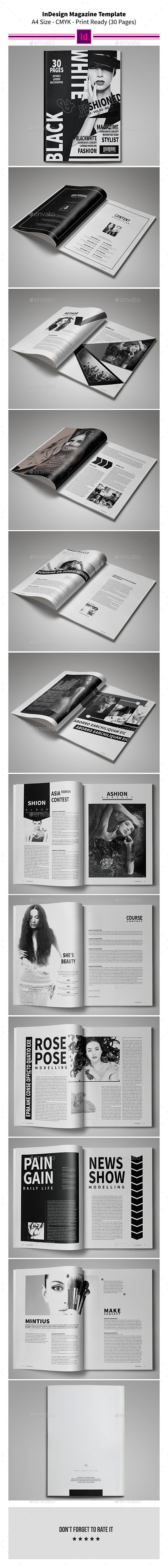 GraphicRiver Black & White Magazine Template 9054239