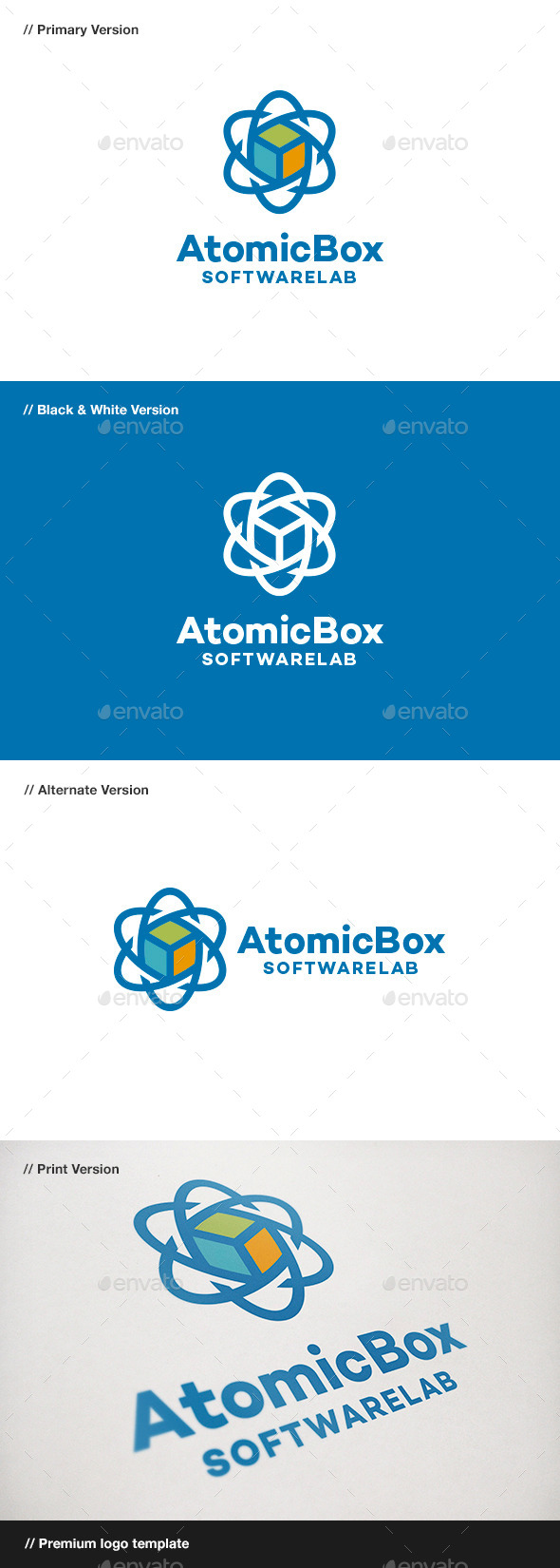 GraphicRiver Atomic Box Logo 9071944