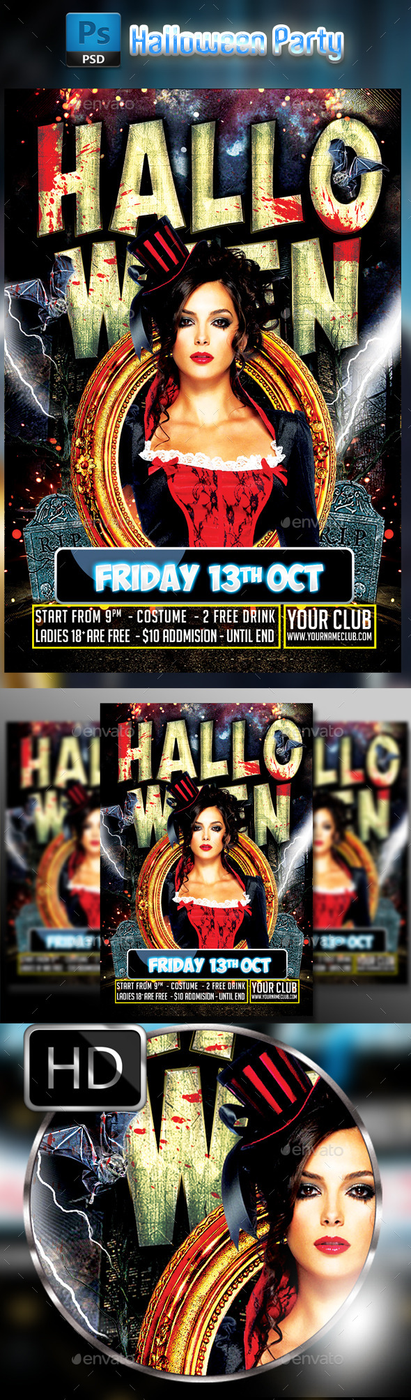 Halloween Party Flyer #3