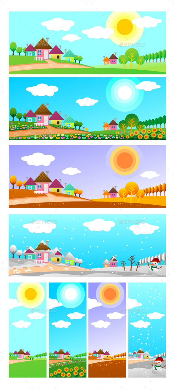 GraphicRiver Four Seasons 9060840