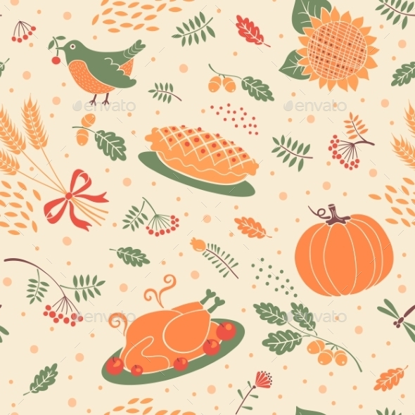GraphicRiver Pattern with Pumpkins 9072161