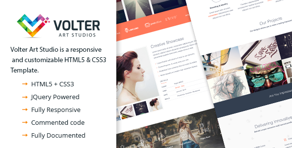 ThemeForest Volter Art Studio Responsive One Page HTML5 & CS 9021862
