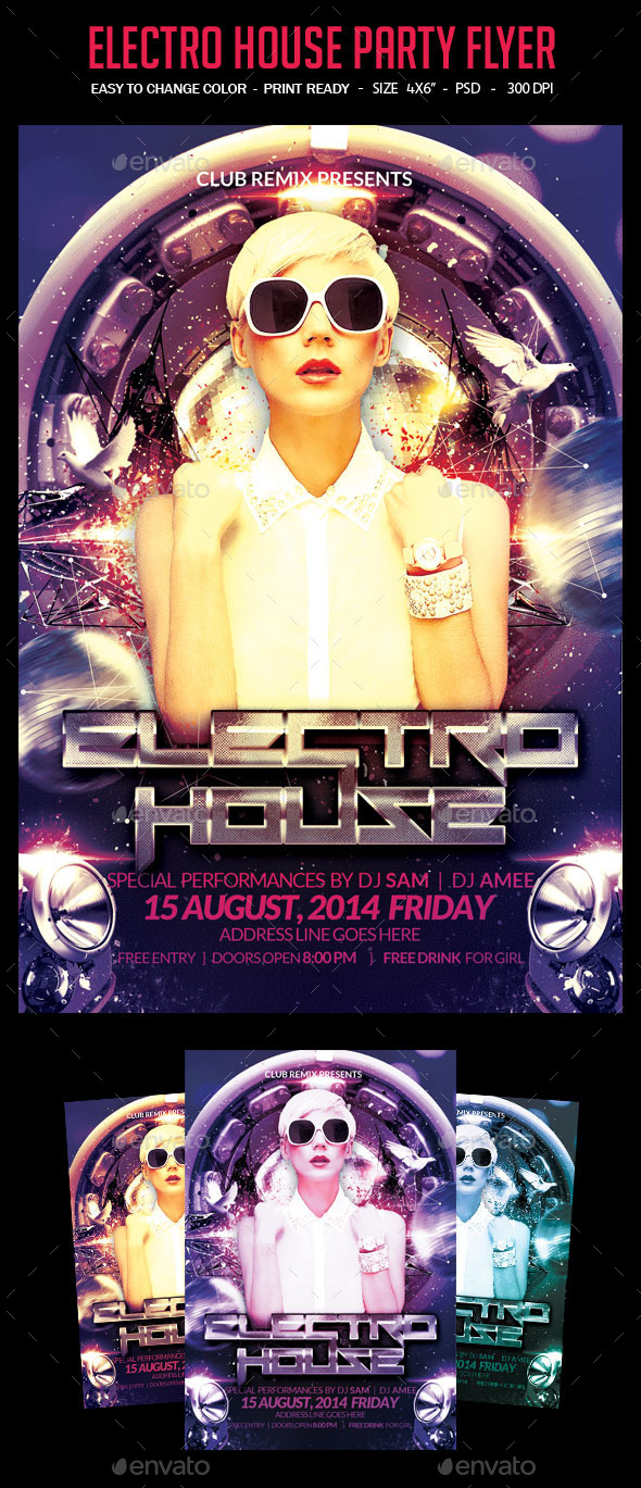 GraphicRiver Electro House Party Flyer 9072211