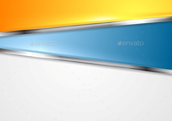 Bright Abstract Background with Metal Elements