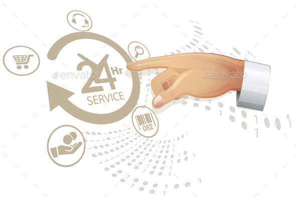 GraphicRiver Selecting Reliable Service Solution Illustration 9072412