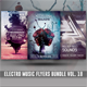 Electro Music Flyer Bundle Vol.18 - GraphicRiver Item for Sale