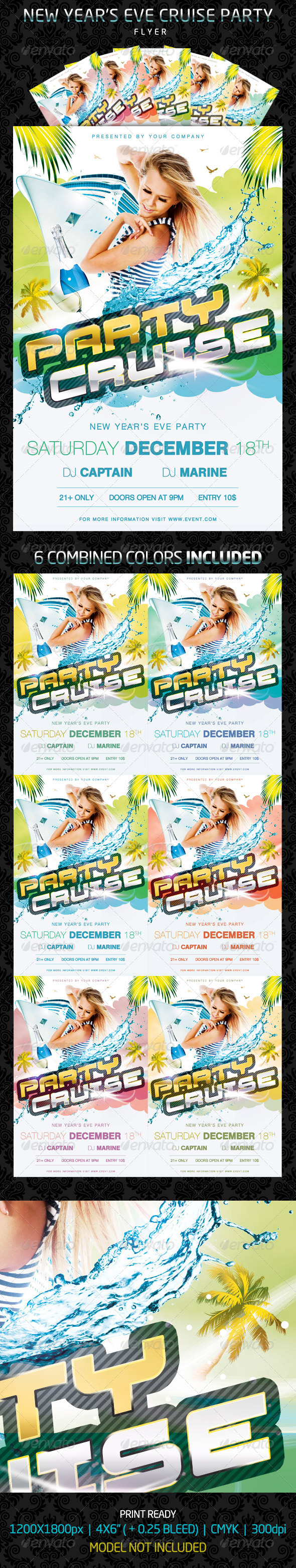 Graphic River Party Cruise Flyer Print Templates -  Flyers  Events  Clubs & Parties 926382
