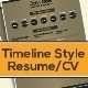 Resume Template / CV: Timeline-Style - GraphicRiver Item for Sale