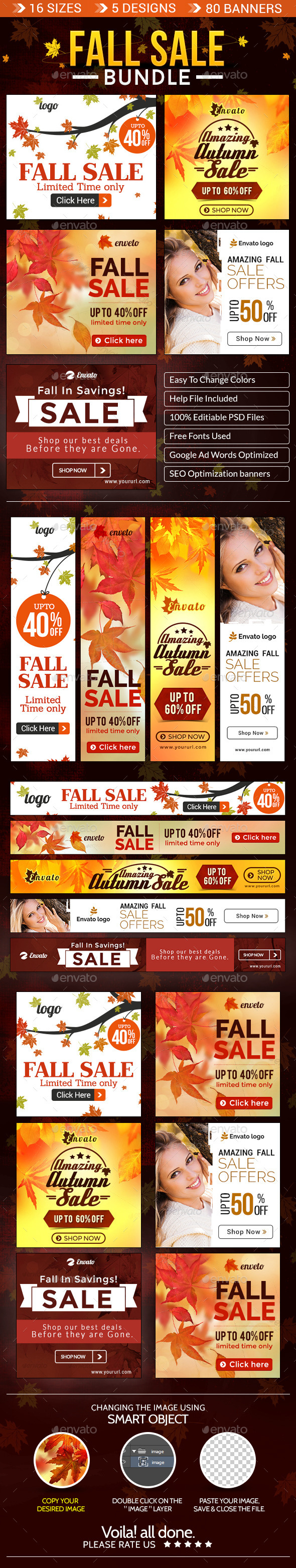 GraphicRiver Fall Special Sale Banner Bundle 5 Sets 9072936