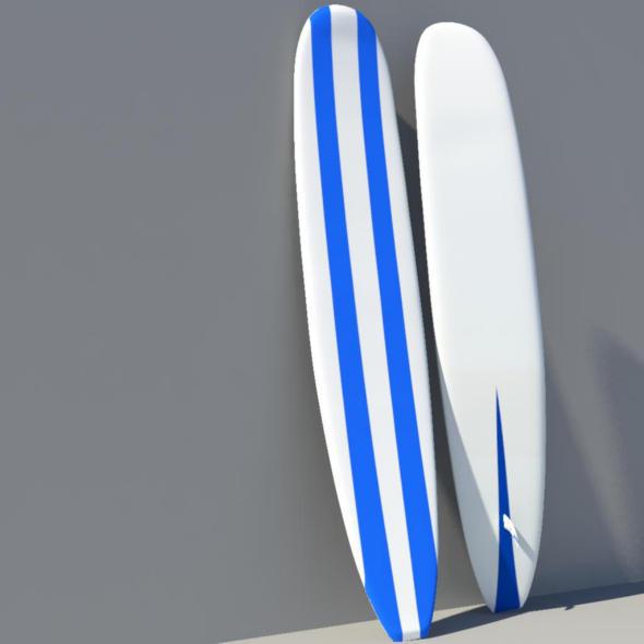 LongBoard Surf - 3DOcean Item for Sale