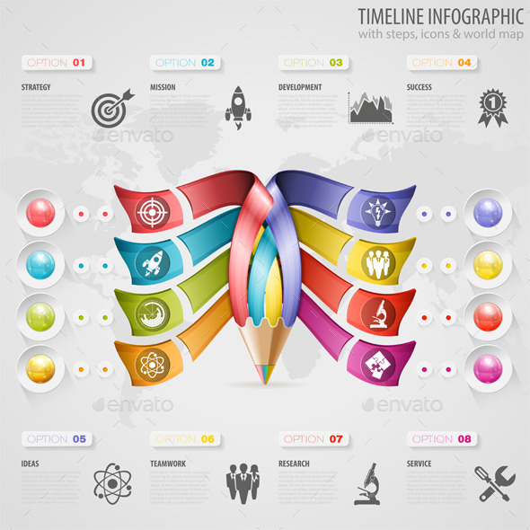 GraphicRiver Timeline Infographic 9073338