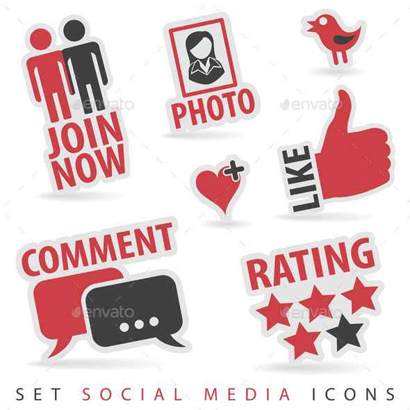 GraphicRiver Set Social Media Icons 9073382