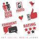 Set Social Media Icons - GraphicRiver Item for Sale