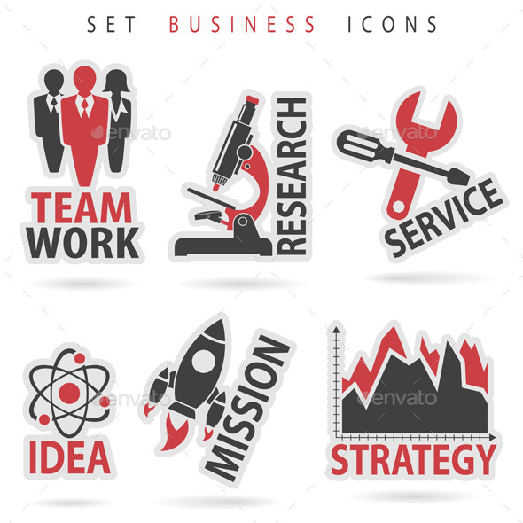 GraphicRiver Set Business Icons 9073385