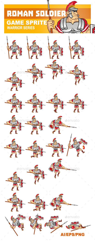 GraphicRiver Roman Soldier Sprite 9073784
