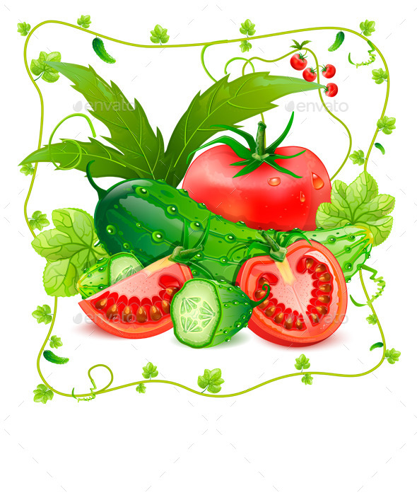 GraphicRiver Tomatoes and Cucumbers 9074549