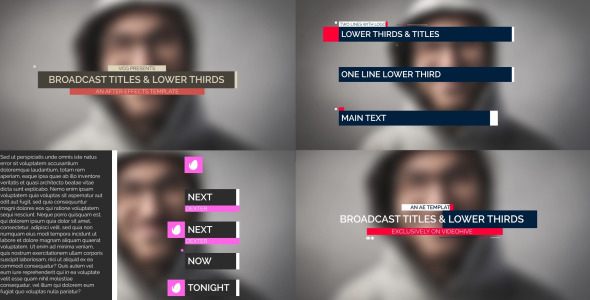 Broadcast Titles And Lower Thirds