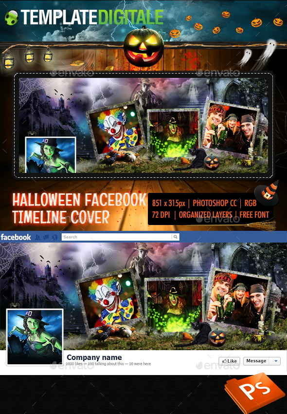 GraphicRiver Halloween Facebook Timeline 9068953