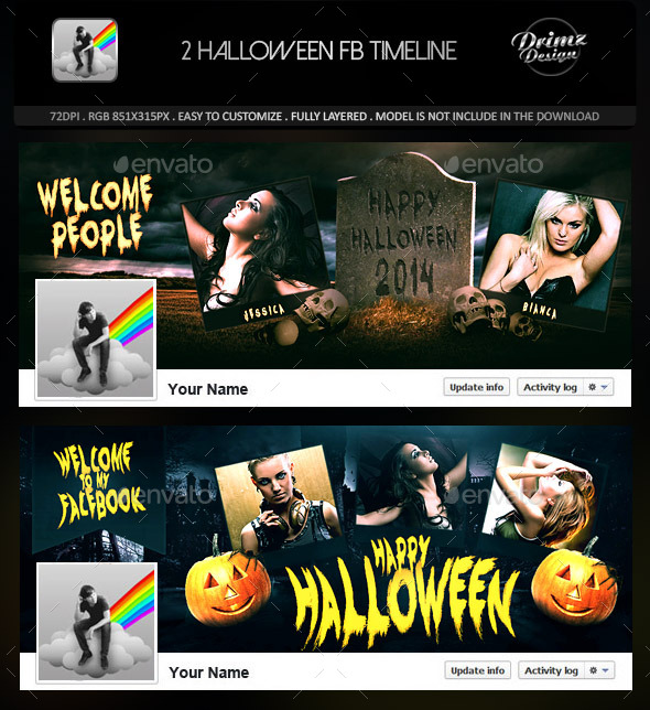 2 Halloween FB Timeline 万圣节页头展示