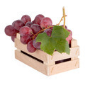 Red grapes in wooden crate - PhotoDune Item for Sale