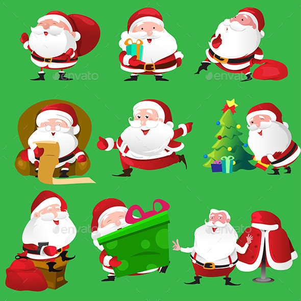 GraphicRiver Santa Claus Icons 9076292