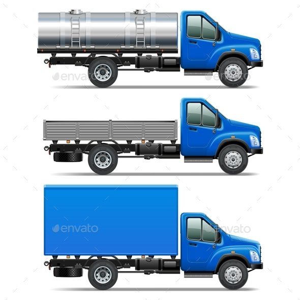 GraphicRiver Vector Lorry Icons Set 2 9076593