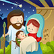Joseph, Mary and Baby Jesus for Nativity Concept - GraphicRiver Item for Sale