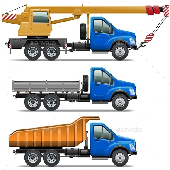 GraphicRiver Vector Lorry Icons Set 3 9076617