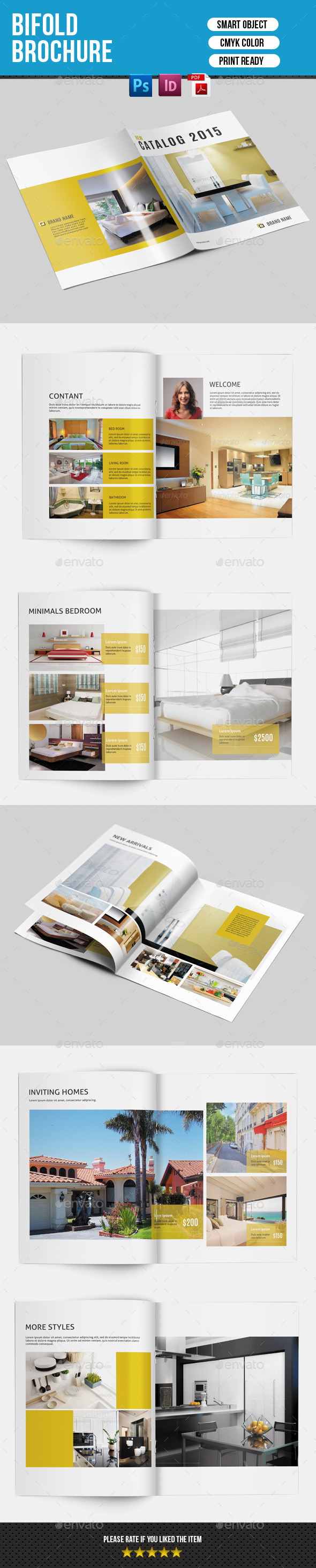 GraphicRiver Bifold Brochure for Interior Design-V141 9077116