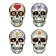 Skulls with Flowers - GraphicRiver Item for Sale