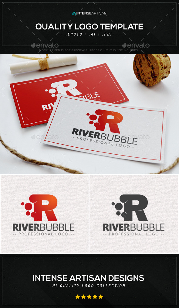 GraphicRiver River Bubble Logo Template 9077200