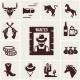 Wild West Wanted Poster and Associated Icons - GraphicRiver Item for Sale