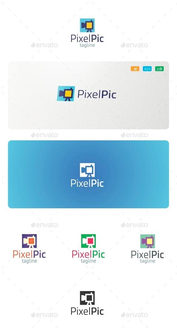 GraphicRiver Pixel Pic Logo 9078262