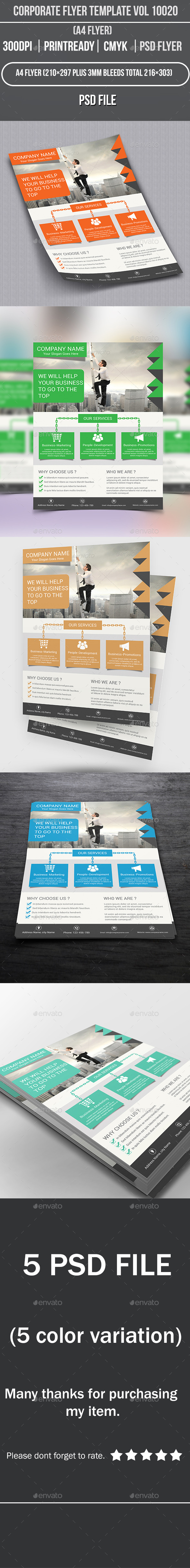 GraphicRiver Corporate Flyer Template Vol 10020 9079295