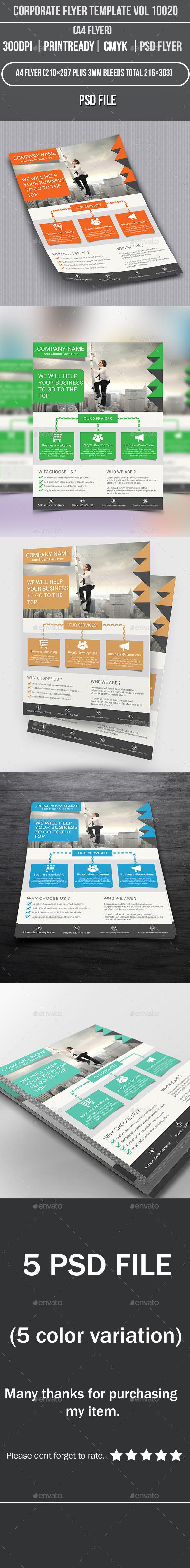 GraphicRiver Corporate Flyer Template Vol 10020 9079295