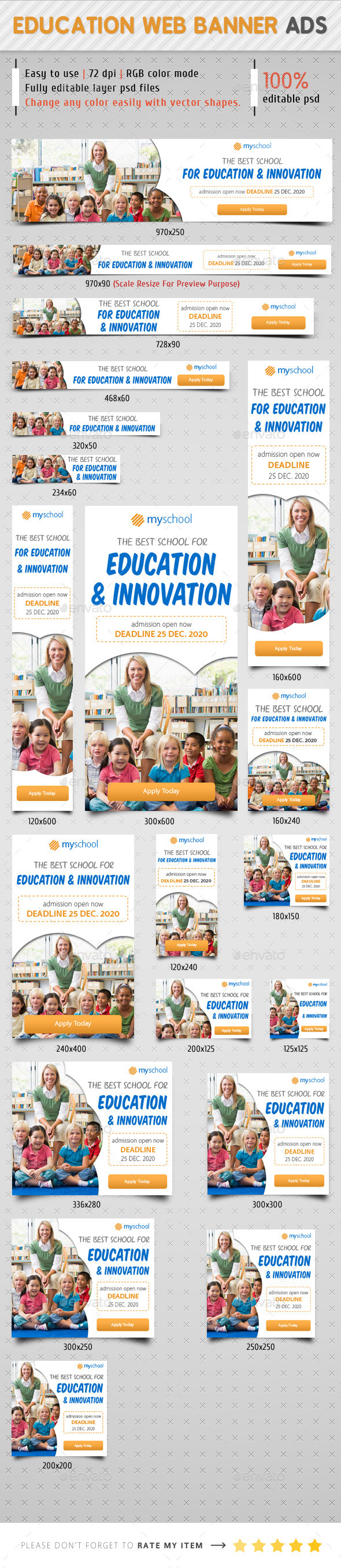 Education Web Banner Ads