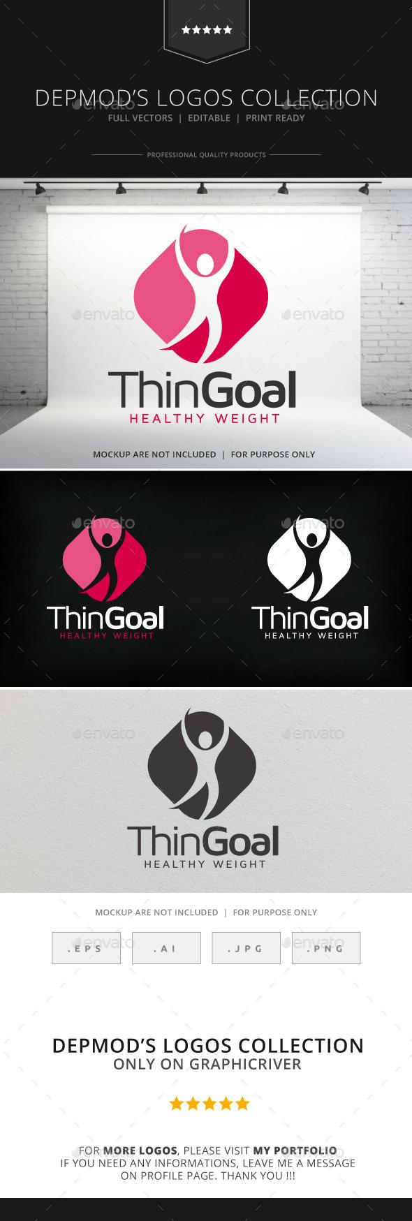 GraphicRiver Thin Goal Logo 9079372