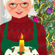 Grandmother and Christmas Cake - GraphicRiver Item for Sale