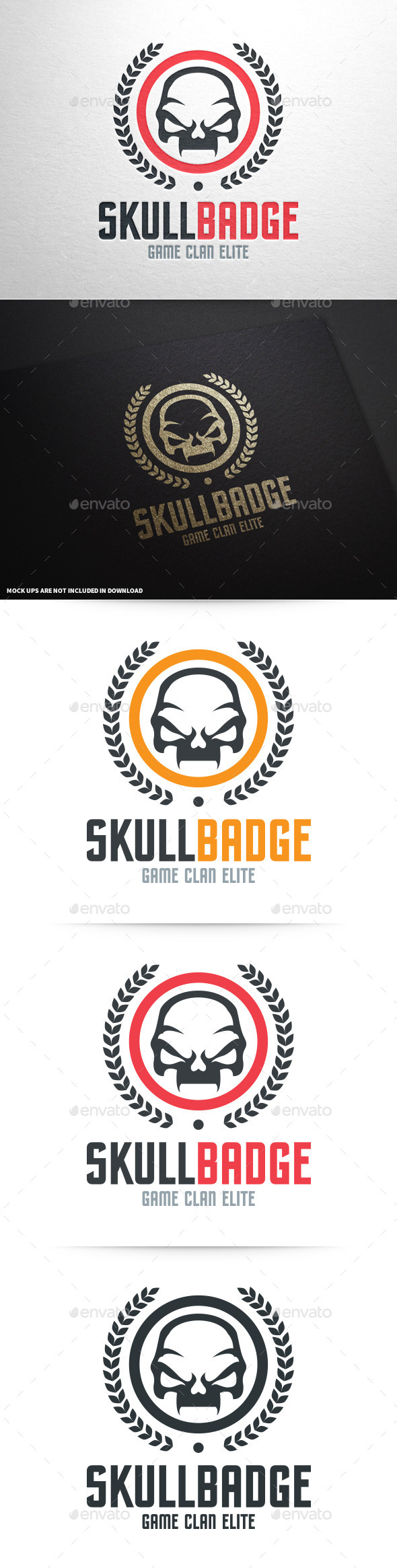 GraphicRiver Skull Badge Logo Template 9079740