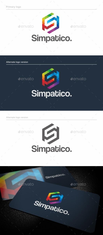 GraphicRiver Simpatico S Letter Logo Template 9079862