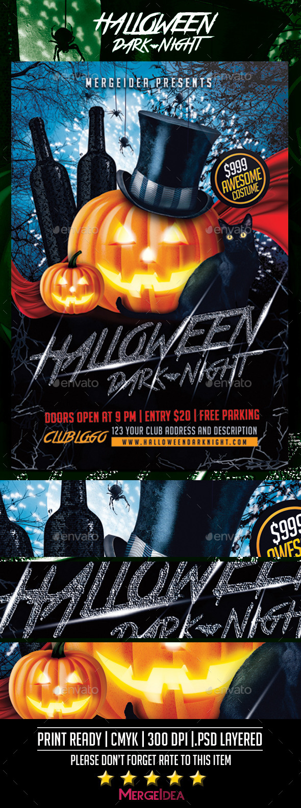 GraphicRiver Halloween Dark Night Flyer 9065311