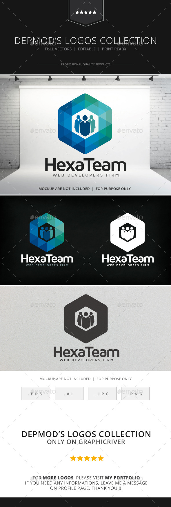 GraphicRiver Hexa Team Logo 9080121