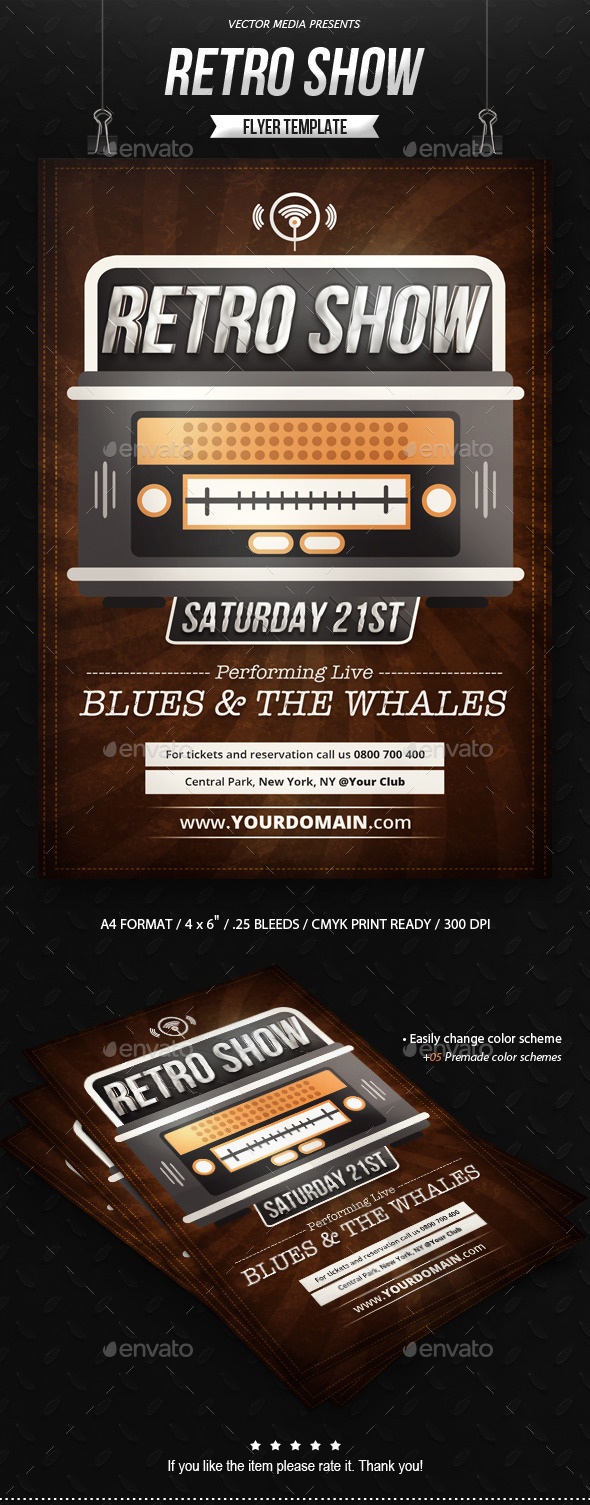 GraphicRiver Retro Show Flyer 9080254
